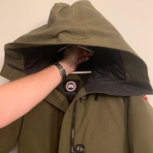 Women's Small Green Canada Goose Hooded Jacket